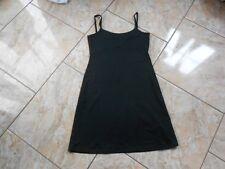 EB612 Clockhouse Sommer Stretch Träger Kleid Kleid 38 Schwarz  Sehr gut