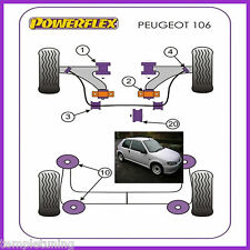 Peugeot 106 GTi & Rallye Powerflex Purple Front Wishbone Bush Kit [4 Bushes]