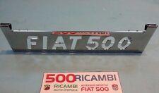FIAT 500 F/L/R ALZACOFANO MOTORE CROMATO ALZA COFANO SCRITTA FIAT500 IN METALLO