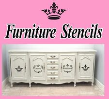 4 X FRENCH STYLE PARIS DRESSER CUPBOARD SIDEBOARD FURNITURE STICKERS