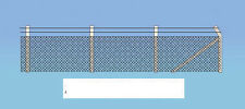 Ratio 436 Chain Link Security Fencing 00 Gauge=1/76th Scale Plastic Kit 1st Post