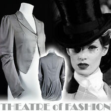 ALL SAINTS JACKET TAILCOAT SILK COAT VINTAGE VICTORIAN MISTRESS RIDING 40s 30s