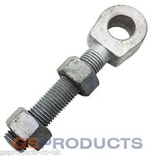 30mm x 200mm Hot Spun Galvanised Swing Gate Eye Bolt with 2 Nuts