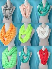 *US SELLER*lot of 10 Chevron stripes Jersy material wholesale infinity scarf