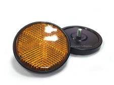 2X Reflectors for Yamaha DT100/125/175/250/400 RS100 Frame Side cover Amber