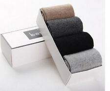 4 Pairs New Winter 100% Wool Socks Thick Socks Cashmere Men's Comfortable 7-11