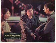 ALAIN DELON ORNELLA MUTI MORT D'UN POURRI 1977  VINTAGE PHOTO LOBBY CARD N°9