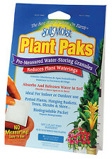 6pc Soil Moist PLANT PAKS Water Saving Hydrogel pouch for Garden Flowers