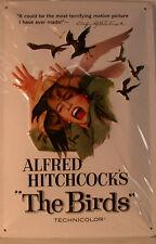 BIRDS - DIE VÖGEL - ALFRED HITCHCOCKS - NOSTALGIE  BLECHSCHILD  20 X 30 CM (47)