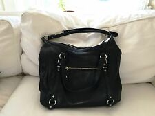 Coach Alexandra Black Leather Convertible Satchel