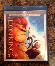 The Lion King 3D(Blu-ray/DVD,2011,4-Disc Set,Diamond Edition) Authentic US