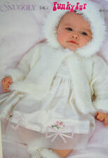 Baby's Christening Hooded Cardigan and Bootees Knitting Pattern