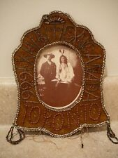 VINTAGE 1929 NATIVE AMERICAN IROQUOIS BEADED PICTURE FRAME BEADWORK TORONTO CA