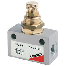 Flow Control Needle Valve Uni Directional 1/8bspp Air Pneumatic
