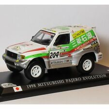 DelPrado 1/43 RC007 Mitsubishi Pajero Evolution Paris - Dakar 1998 2nd Kenjiro S