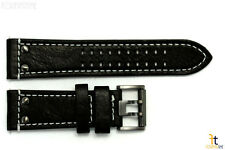 Luminox 1921 1941 Atacama 26mm Black Leather Watch Band Strap