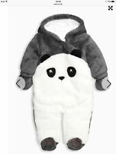 BNWT NEXT Panda All In One Fleece Outfit 12-18months