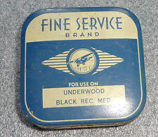 old Fine Service Brand typewriter ribbon tin