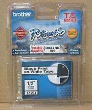 "Genuine OEM Brother TZ-231 TZ231 Black on White 1/2"" Label Tape ~ Free Shipping"