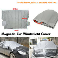 Magnetic Car Windshield Cover Sun Snow Frost Ice Cotton Window+Mirror Protector