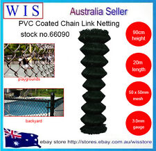 BLK PVC coated Chain wire mesh fence,Chain Link Netting,90cmx20m,3.0mm,30Kg66090