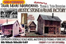 the Rustic Stone & Frame Factory Kit Scale Model Masterpieces/ Yorke HOn3 Fine