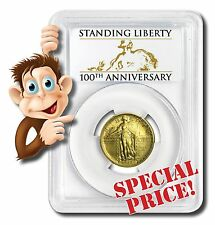 2016-W 1/4 oz. Gold Standing Liberty Quarter Centennial - PCGS SP70 First Strike