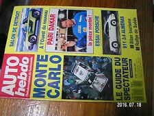 µ?§ Revue Auto Hebdo n°658 Rallye Suede Paris-Dakar Guide Monte Carlo