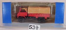 Roco 1/87 No.1314 Unimog S Pritsche / Plane Feuerwehr OVP #594