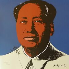 ANDY WARHOL MAO TSE TUNG SIGNED HAND NUMBERED 2213/2400 LITHOGRAPH 毛澤東 zedong
