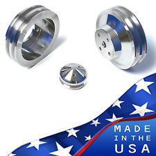 Pontiac Pulleys Underdrive Kit 350 400 428 455 Billet Aluminum V8 V-Belt Set