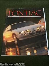 PONTIAC - DRIVING ENTHUSIAST HANDBOOK - 1989 VOL LXIV