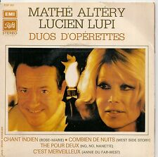"""45 TOURS / 7"""" SINGLE--MATHE ALTERY & LUCIEN LUPI--""""DUOS D'OPERETTES""""--ROSE MARIE"""