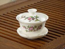 Peachs * High Grade White Porcelain Gongfu Gaiwan Teacup 80ml 2.7fl.oz
