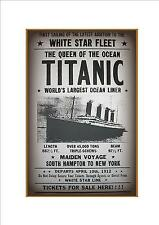 Titanic Advert poster reproduction metal sign, Vintage Style Titanic Poster