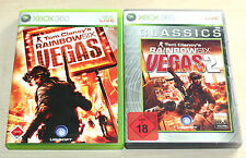 2 XBOX 360 SPIELE SAMMLUNG TOM CLANCY'S RAINBOX SIX VEGAS 1 & 2 - EGO SHOOTER