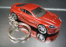 Dark Red Aston Martin DBS Diecast Custom Key Chain Ring Fob 2010 Chrome