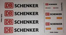 """Decal für Hängerzug / Wechselbrücken """" DB SCHENKER """" 1/87 Eigenbau"""