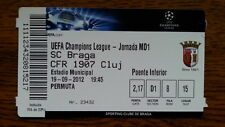 Ticket SC SPORTING BRAGA - CFR 1907 CLUJ 12/13 Champions League Portugal Romania