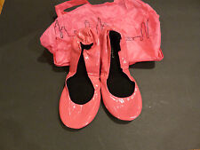 CitySlips Flats Foldable Patent Leather Shoes Comfort Bag Case Pink M 7-8.5