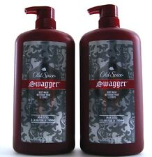 2 Swagger Old Spice Red Zone Man Sized Body Wash 32 fl Oz ea