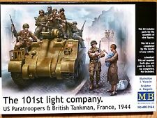 Masterbox 1:35 us paratroopers & british tankman société 101st figures model kit