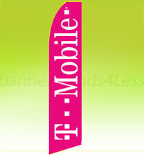 Feather Swooper Flutter 11.5' Tall Banner Sign Flag - T-MOBILE Wireless pb