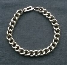 """Fine quality heavy Solid 925 Sterling silver smooth rounded curb bracelet 8.75"""""""