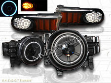 2007-2014 Toyota FJ Cruiser Projector Headlights Halo CCFL Black + LED Corner