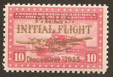Scott # C52 - 1935 -   ' P.I.U.S Initial Flight Gold ovpt. '