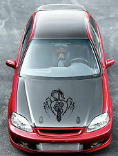 black tribal skull vinyl decal sticker car hood door racing wall window flames