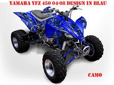 Invision decoración Graphic kit ATV yamaha yfz 450 04-14,yfz 450r camo, Decals B