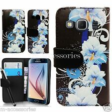 FLORAL WALLET PU LEATHER CASE COVER POUCH FOR SAMSUNG GALAXY CORE PRIME SM-G360