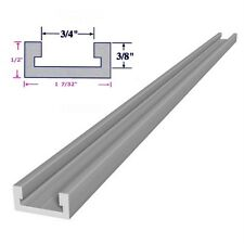 "3/4 x 3/8 x 48"" Inch T track Miter Track, Jig Fixture Slot for Router Table Saw"